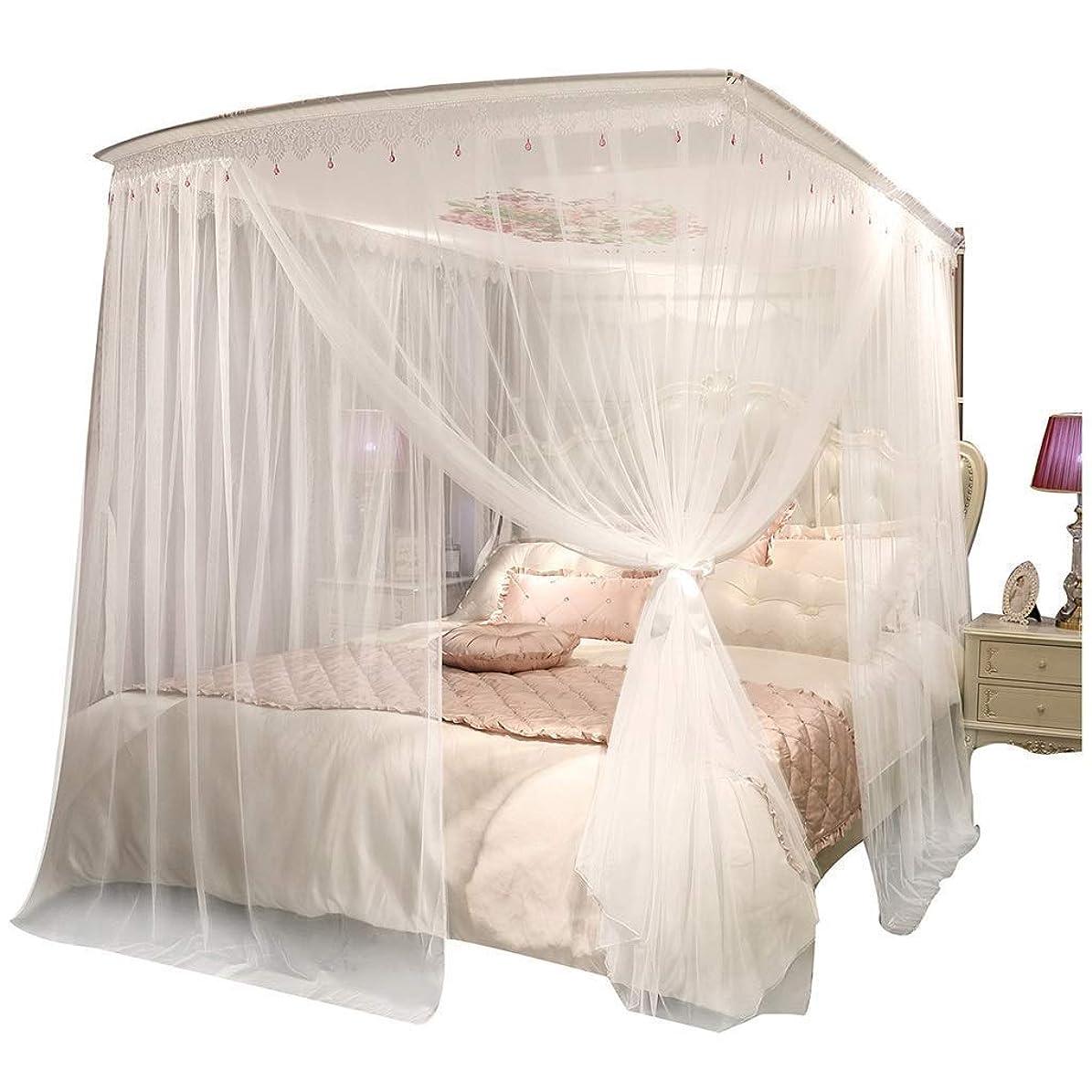 ショルダー鰐平らなD-chuangman 鉄引き込み式の蚊帳の暗号化3ドアオープン1.5メートル/ 1.8メートルベッドホームダブルプリンセス風 (Color : 1.5m)