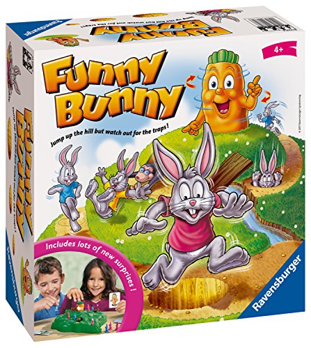 Ravensburger 21330 Funny Bunny Kids Age 4 Years and up-A Fun & Fast Family Game You Can Play Over & Over