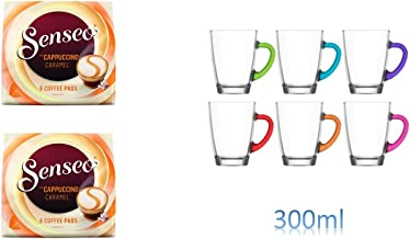 4er Set Gl/äser mit Henkel 300ml /… Senseo Kaffeepads 2er Pack