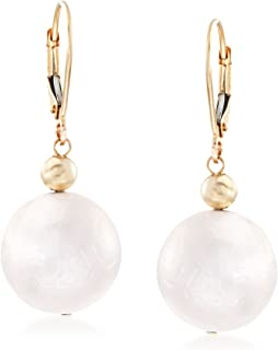 Ross-Simons 13-14mm Cultured Pearl Drop Earrings in 14kt Yellow Gold