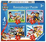 Ravensburger 030651 Paw Patrol, 4 Puzzle in a Box per Bambini, Età Raccomandata 3+