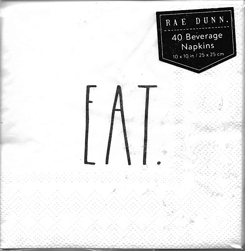 Rae Dunn Cocktail Napkins EAT 40 Count