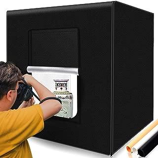 撮影キット SAMTIAN 80x80x80cm 超大型撮影ボックス スタジオボックス プロな撮影セット 超高輝度12000ルーメ126個SMDライト 調光器付き マルチアングル撮影可能 CRI 95以上 折り畳み式 収納便利 組立簡単 携帯可能 3色背景(黒、白、オレンジ)
