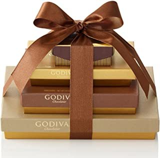 Godiva Chocolatier Sweet Surprise Gift Tower, Chocolate Variety Gift Basket, Great for Hostess Gifts, 46 Piece