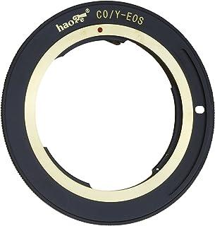 Haoge レンズマウントアダプター Contax/Yashica C/Y CYマウントレンズからCanon EOS Rebel 80D 70D 60D 50D 550D 500D 5D 5DS 7D EF EF-Sマウントカメラ用