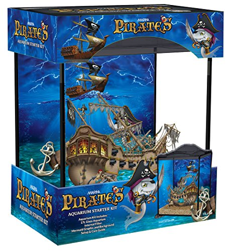 Marina Pirates Aquarium Kit, 17 liter