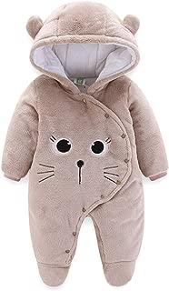 Newborn Baby Boy Girl Bear Ear Hoodie Romper Cute Cat Graphics Winter Fleece Warm Jumpsuit