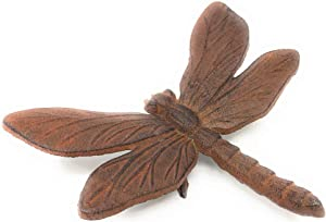 Miller Horticultural Cast Iron Dragonfly Paperweight or Figurine, 6.5 Inches Wide