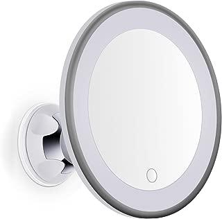 Goplus Specchio da Bagno 68x57x12 cm Bianco Specchio con Cornice per Trucco Specchio Quadrato di Legno Specchio Moderno da Parete