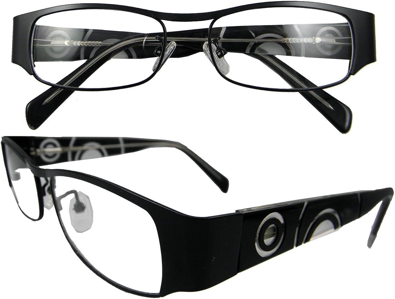 Circleperson Men Women Eyeglasses Optical Rectangle Spring Hinges W Clear Lensblack