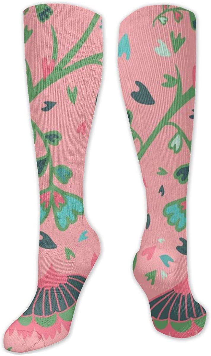 Butterflies Flowers Knee High Socks Leg Warmer Dresses Long Boot Stockings For Womens Cosplay Daily Wear