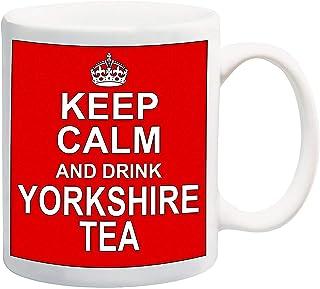 Houd rustig en drink Yorkshire Tea Red 11oz mok
