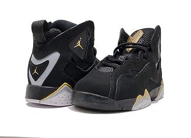 Jordan Air True Flight Preschool Black/Metallic Gold-Wolf Grey, Size