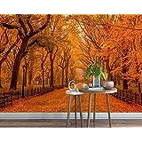 3D写真の壁紙森落葉性ファイアレッド壁紙Hd壁紙リビングルーム壁画スタジオ壁紙カスタムサイズシルク生地素材-340X210cm