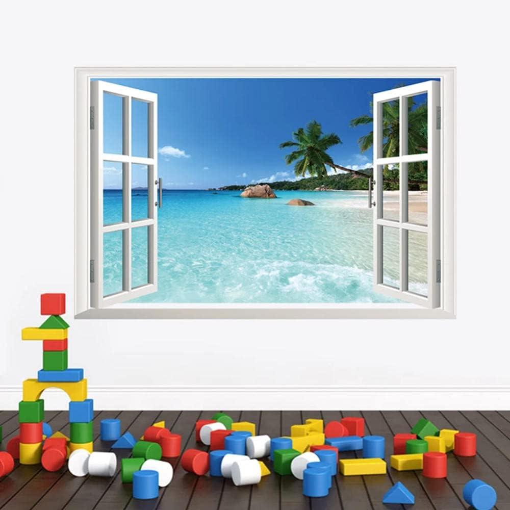 Landscape False Windows 3D depot Wall Room Sticker Direct stock discount Hawaii Living Style
