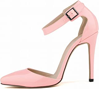 2018 Summer Fashion Sandals Shoes for Woman Stilettos Ankle Strap Pointed Toe High Heels 11cm Sexy Party Sandals Shoes A021 1 9.5