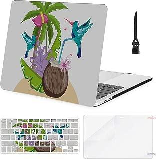 MacBook Pro Case Exotic Bird Summer MacBook Air11 Air13 Case MacBook Pro13 Pro15 Plastic Case Keyboard Cover & Screen Protector & Keyboard Cleaning Brush