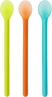 Boon Serve Baby Feeding Spoons, Blue/Orange/Green, 3 Count
