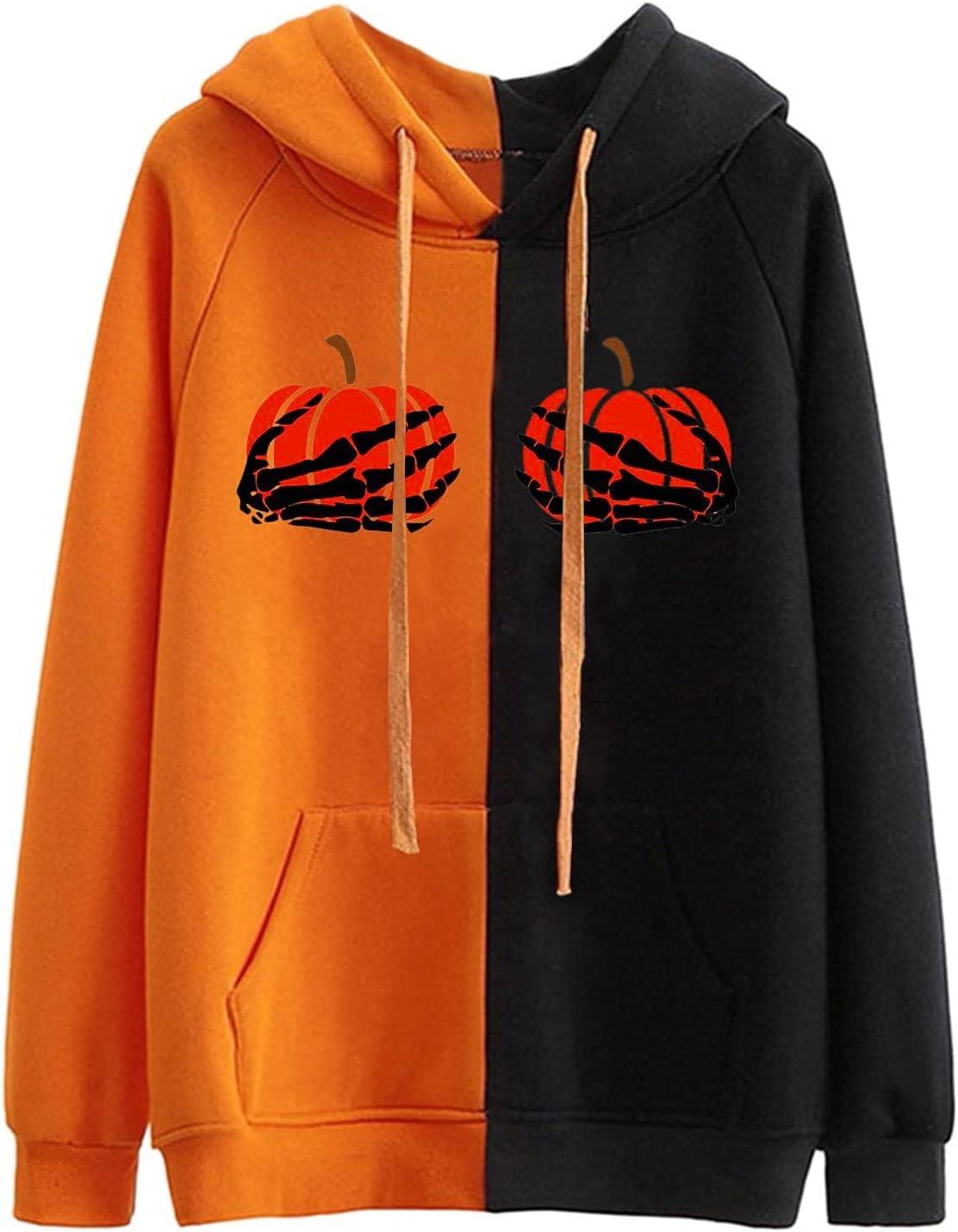TIANMING It is very popular Halloween Hoodie for Sweatshirt Women Skeleton Pumpkin Selling and selling