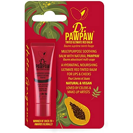 Dr. Pawpaw Multi-Purpose Balm   No Fragrance Balm, for Lips, Skin, Hair, Cuticles, Nails, and Beauty Finishing   10 mL (Ultimate Red, 1 Pack)