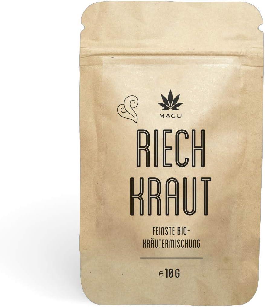 Magu - Mezcla de hierbas orgánicas más fina | 10 g | 100 % libre de nicotina y sin tabaco | hierbas aromáticas alternativas de tabaco natural