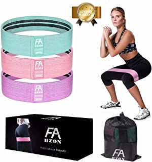 Exercise Resistance Bands, Set of 3 Fitness Workout Booty Bands for Legs,Butt,and Yoga,Fabric Non Slip Stretch Hip Bands for Women(2019 Upgrade)
