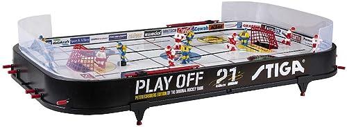 STIGA Hockey sur Table Playoff 21 Jeu de Table Suède-Canada, Mixte Enfant, Noir/Blanc, 96 x 50 cm