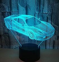 Sport Auto SFALHX 3D LED Nachtlampje Illusie Lamp 16 Kleurverandering Decor Lamp Kinderkamer Decor Beste Festival Verjaard...