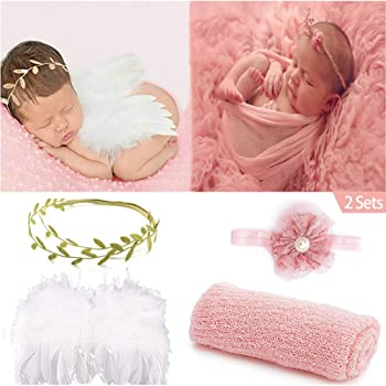 Wing Angle Wing Photo Props Flower Clothing Newborn Baby Vintage Leaf Headband
