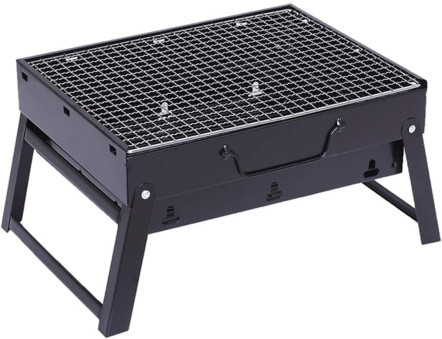 BBQ Supplies Barbecue Portable Barbecue Gril, Folding Stainless Steel Charcoal Barbecue Table Camping Outdoor Garden Grill BBQ Utensil