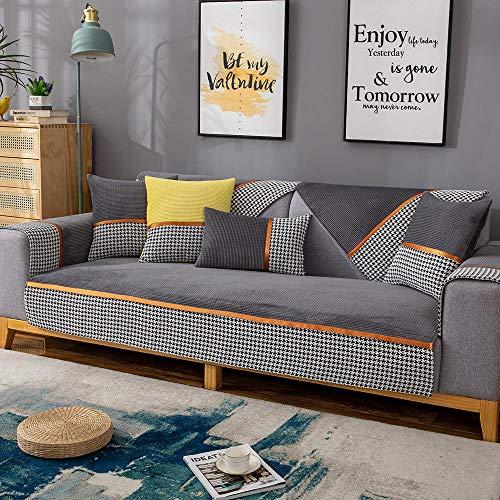 schonbezug für Sofa Couch überwurf Couch überzug Schonbezüge,L-förmiger Stoff Schnittsofaschild,Ecksofabezüge für Ledercouch,hocheffiziente rutschfeste Sofasitzbezüge-dunkelgrau_70 * 150 cm