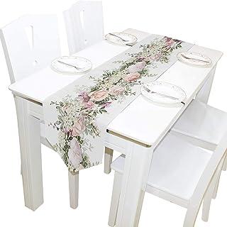 Bernice Winifred Table en dentelle pour mariage, décoration de table de vacances, table de salle à manger, table basse, sa...