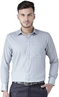 Zeal Mens Shirt Formal Regular Fit Full Sleeve Micro Checks Steel