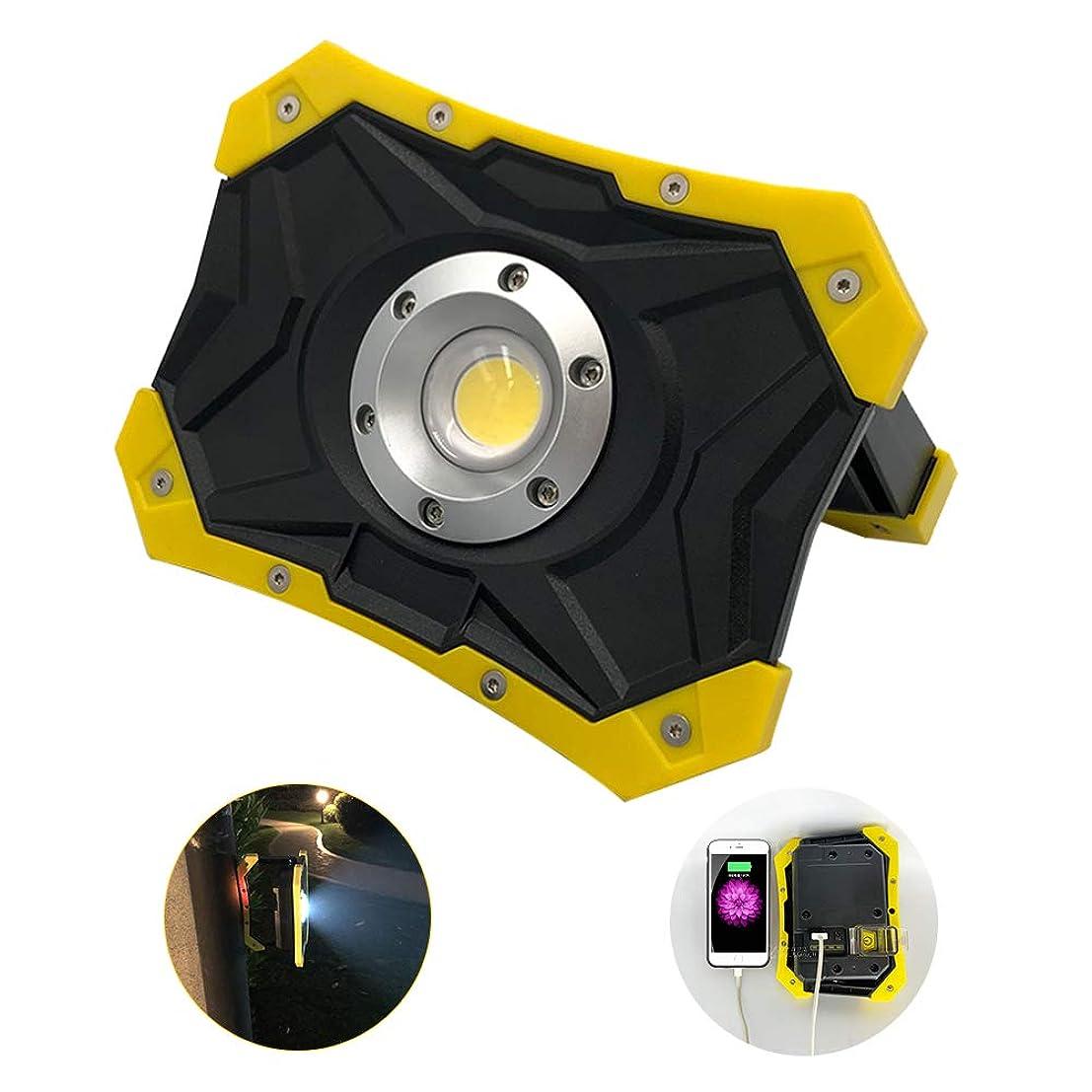 頼るオーストラリア見込みBIXIN LED作業灯 投光器 充電式 防水 20w 2500lm COBライト 磁石 バッテリー ポータブル投光器 コードレス