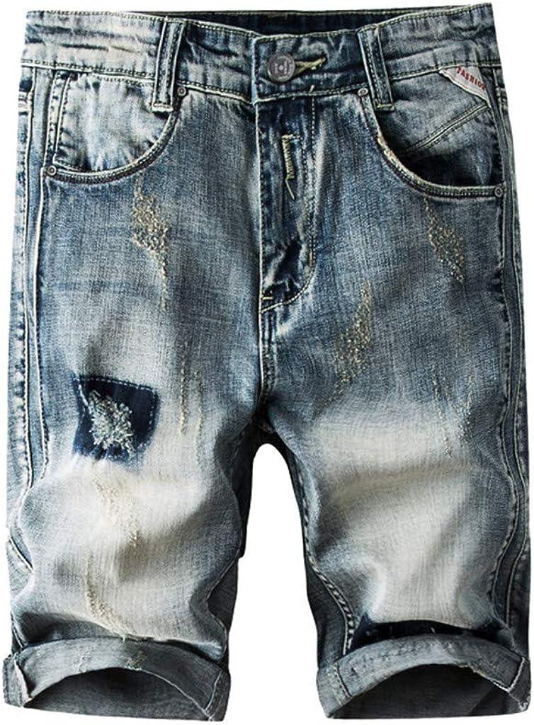 MODOQO Men Jeans Casual Shorts Skate Board Stright Fashion Jean