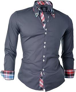 D&R Fashion la Manera Elegante con Camisa Cuello clásico del diseño Delgado Fit Italiana