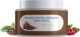 The Moms Co. Natural Cranberry Coffee Exfoliating Body Scrub For Tan Removal & Smooth Skin I (100 gms)