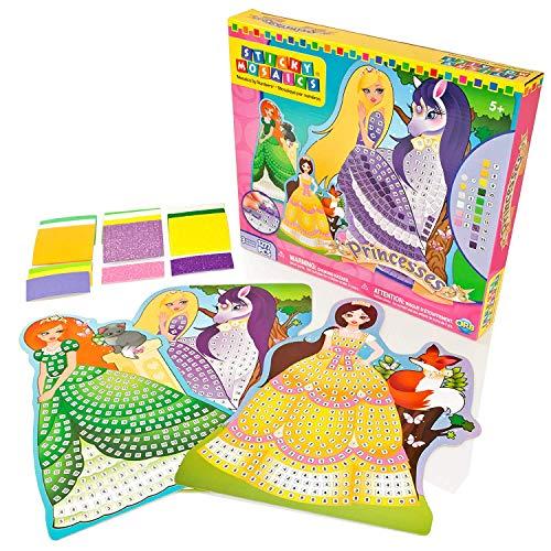 Unbekannt Sticky Mosaics Prinzessinnen Bastelset