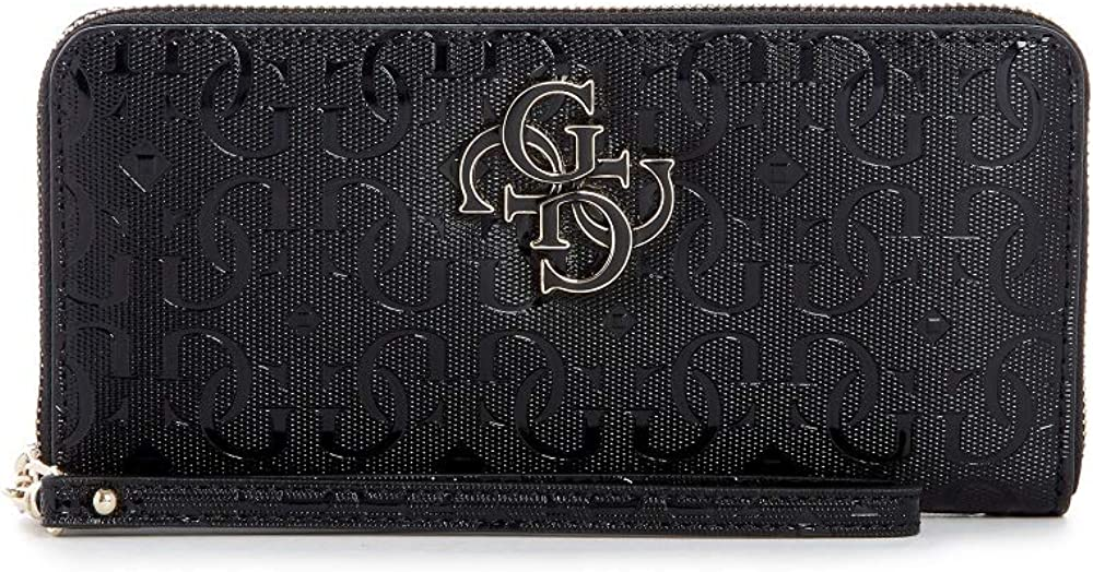 Guess porta carte di credito portafogli da donna in finta pelle effetto saffiano CHIC SHINE