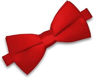 Neuf Garçons Enfants Kids Orange ou Blanc Bow Tie Dickie Bow pré-attaché UK