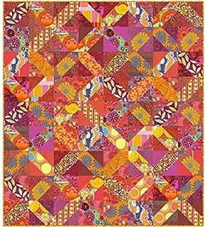 Kaffe Fassett Eclectic Quilt Kit (Red) Featuring Kaffe Fassett Artisan Fabric (Top, Binding, and Backing)