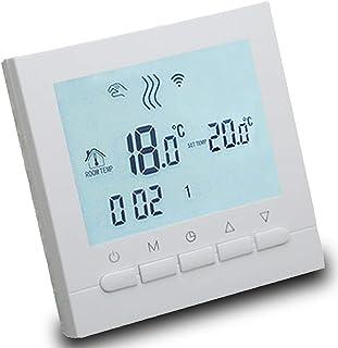 AVStar - Termostato inteligente programable para calefacción de calderas de gas - Pantalla LCD para facilidad de control y programación - carcasa blanco elegante - funciona con pilas