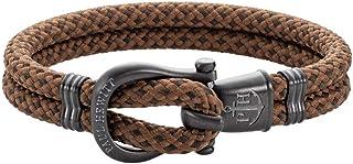 PAUL HEWITT Schäkel Armband Herren PHINITY - Nylon Armband Männer, Armband Herren mit Schäkel Verschluss aus IP-Edelstahl