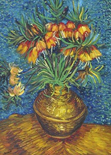 Preisvergleich Produktbild 1art1 Vincent Van Gogh - Kaiserkronen In Einer Kupfervase,  1887,  2-Teilig Selbstklebende Fototapete Poster-Tapete 250 x 180 cm