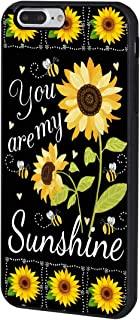 iPhone 8 Plus Case,BOSLIVE You are My Sunshine Sunflower Background Design TPU Slim Anti-Scratch Protective Cover Case for iPhone 8 Plus 5.5