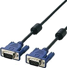 エレコム ディスプレイケーブル D-sub15ピン VGA-VGA スリム RoHs対応 1.5m ブラック CAC-15BK/RS