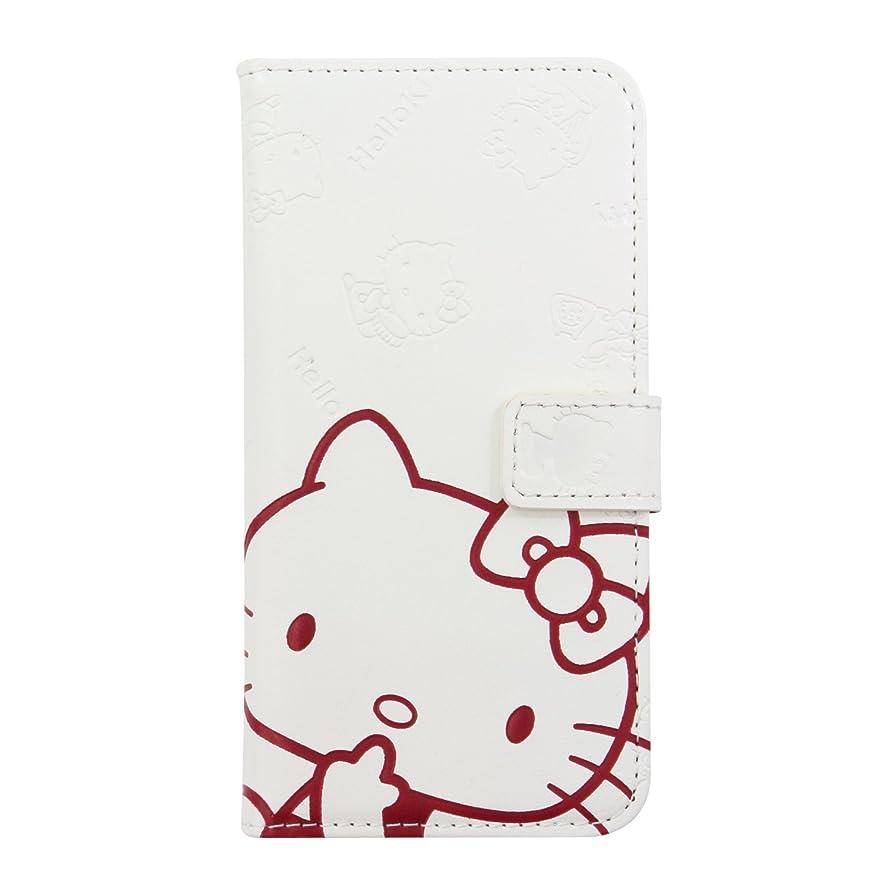 旅行者プランター欲しいですサンリオ ハローキティ iPhone8/7専用 手帳型 ケース ホワイト Bi7-KT01