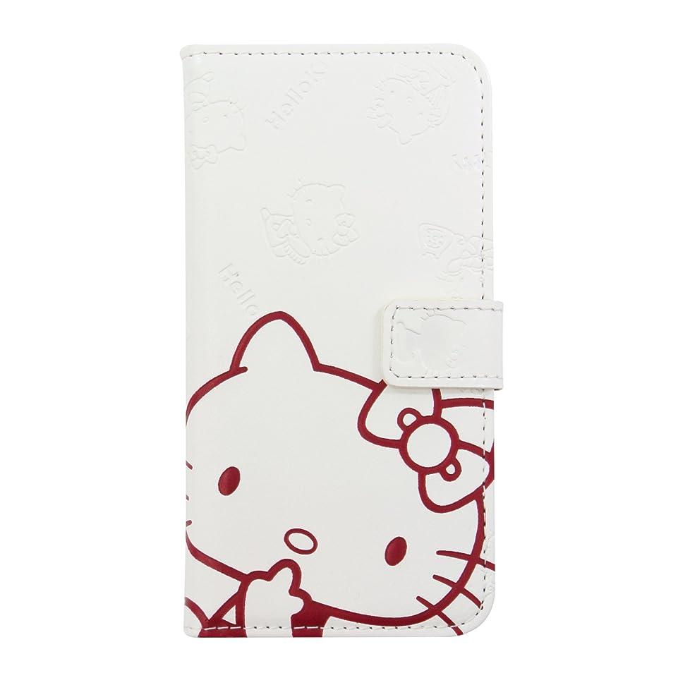 飢饉眠っているインチサンリオ ハローキティ iPhone8/7専用 手帳型 ケース ホワイト Bi7-KT01