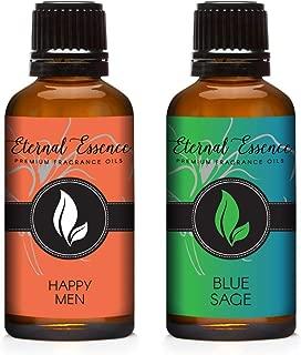 30ML - Pair (2) - Blue Sage & Happy Men - Premium Fragrance Oil Pair - 30ML