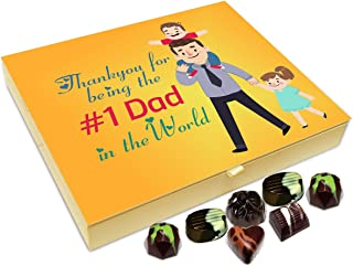 Chocholik Fathers Day Gift Box - Thank You for Being The Best Father in The World Chocolate Box - 20pc
